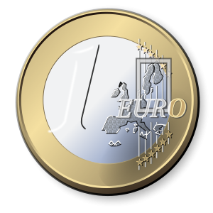 21760 one euro coin clipart